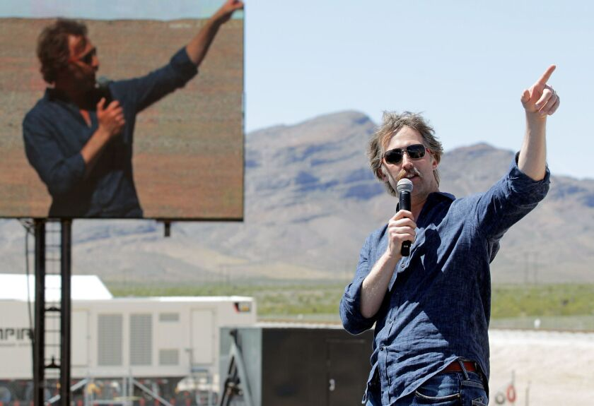 Brogan BamBrogan, who has departed Hyperloop One, speaks at a technical demonstration put on by the company in May in North Las Vegas, Nev.