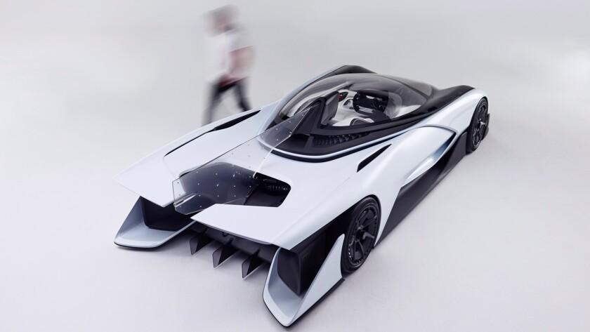 Faraday Future's FFZERO1 concept car, unveiled in Las Vegas in January.