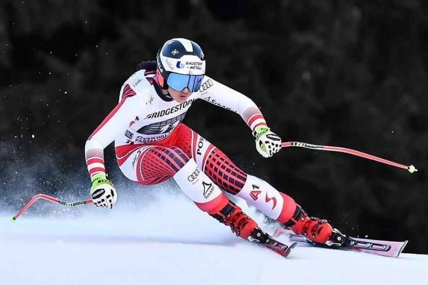 La austríaca Stephanie Venier, de 25 años, firmó este domingo su primera victoria en la Copa del Mundo de esquí alpino al ganar la prueba de descenso disputada en la estación alemana de Garmisch-Partenkirchen. EFE