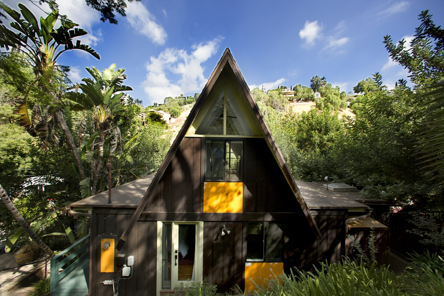 When Jake Hurwitz, 32 and his fiance Jillian Vogel, 27 moved into a 1965 A-frame cabin in Mt. Washington last year, they worked with designer Jennifer Wallenstein of September Workshop to give the interiors a more youthful feel.