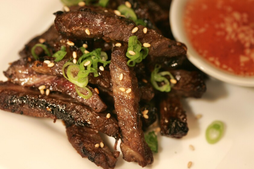 Grilled Asian beef short ribs