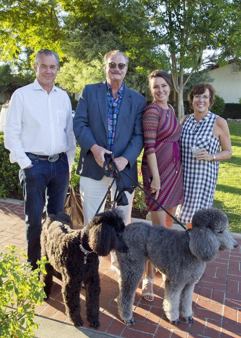 Mike McCarthy, Dr. Jeff Schafer with Joelle and Chelsea, Carol Bader, Ruth Webster
