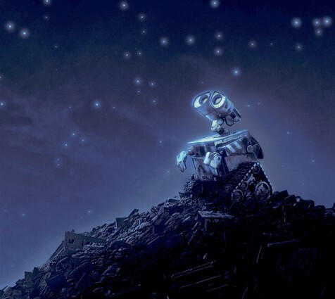"""By Denise Martin, Special to The Times There's no denying it. Wall-E does bear more than a passing resemblance to No. 5, the military-built robot on the run in """"Short Circuit."""" But the similarities end there, says """"Wall-E"""" director Andrew Stanton, who says his latest is """"first and foremost, a love story."""" """"I wanted this movie, about Earth's last robot, to transport you to another world, give you that sense of awe that's hard to come by today,"""" he says. In running down Stanton's list of movies that inspired """"Wall-E,"""" it's pretty clear that they're all, shall we say, far removed from the 1986 Steve Guttenberg-Fisher Stevens comedy. And for the record, Stanton dreamed up the look of Wall-E while at a 2003 playoff game between the Boston Red Sox and the Oakland A's. """"I asked someone for a pair of binoculars and missed a couple innings because of it,"""" he recalls. """"I was busy trying to make the binoculars laugh, smile, look sad…"""""""