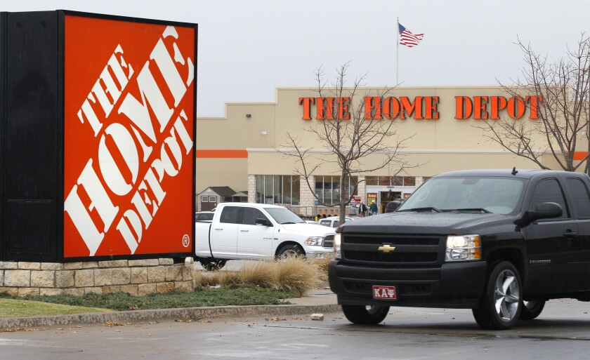 A Home Depot store in Oklahoma City.