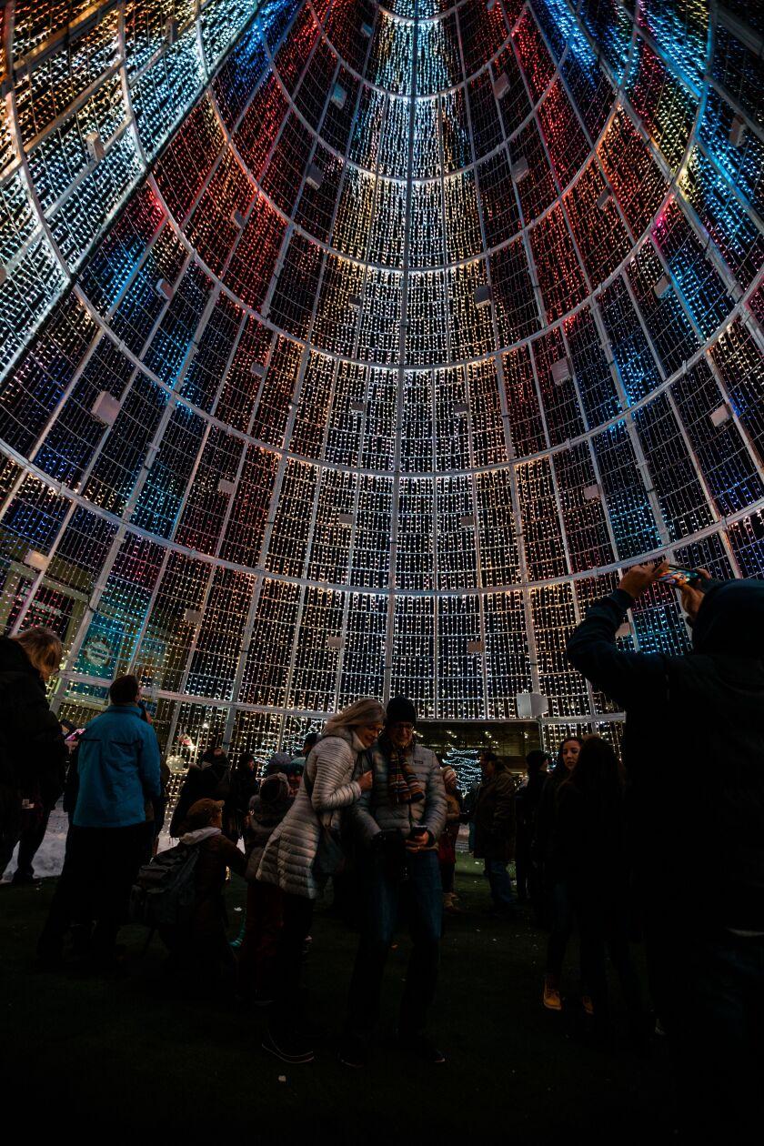 Interior of the digital tree in Denver