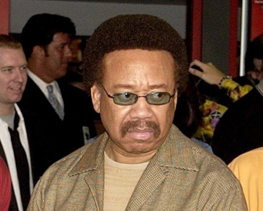 FILE - In this July 7, 2003 file photo, Maurice White, of Earth, Wind, & Fire, appears at an induction ceremony at the Hollywood Rock Walk in the Hollywood section of Los Angeles. White, the founder and leader of Earth, Wind & Fire, died at home in Los Angeles, Wednesday, Feb. 3, 2016, said his bro