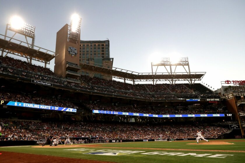 SAN DIEGO, CA - JULY 12:  A general view of the ball park during the 87th Annual MLB All-Star Game at PETCO Park on July 12, 2016 in San Diego, California.  (Photo by Sean M. Haffey/Getty Images) ** OUTS - ELSENT, FPG, CM - OUTS * NM, PH, VA if sourced by CT, LA or MoD **