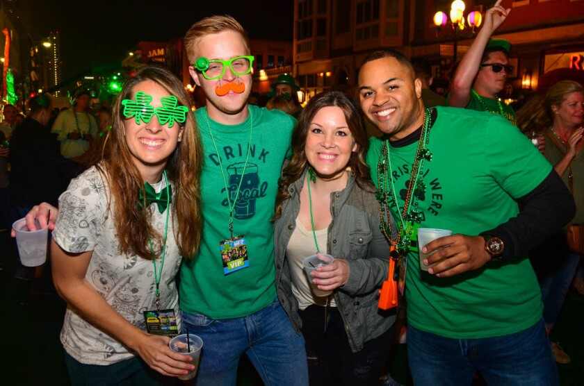 Green was key during this year's shamROCK in the Gaslamp on Friday, March 17, 2017. (Allissa Smith)