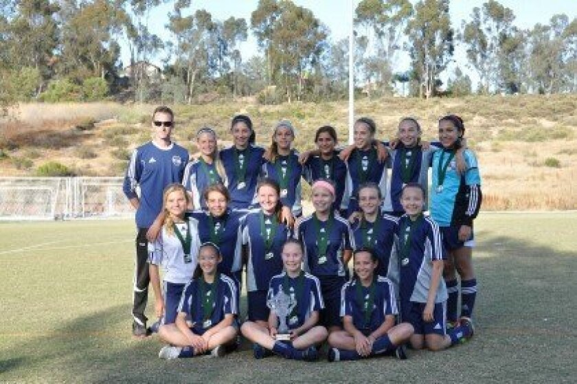DMCV Sharks G99 Blue Poway Country Shootout Champs 2013 May
