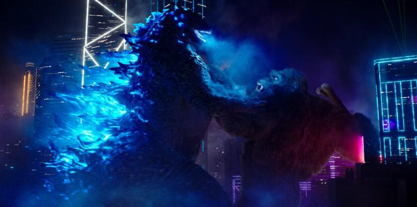 Kong about to punch Godzilla