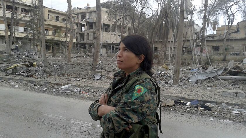"""""""All these places were full of people,"""" says an Iraqi Kurdish commander who goes by the nom de g"""