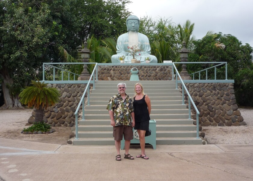 Candace Brown, right, with husband Don Kapuscinski during a 2014 vacation in Maui, Hawaii.
