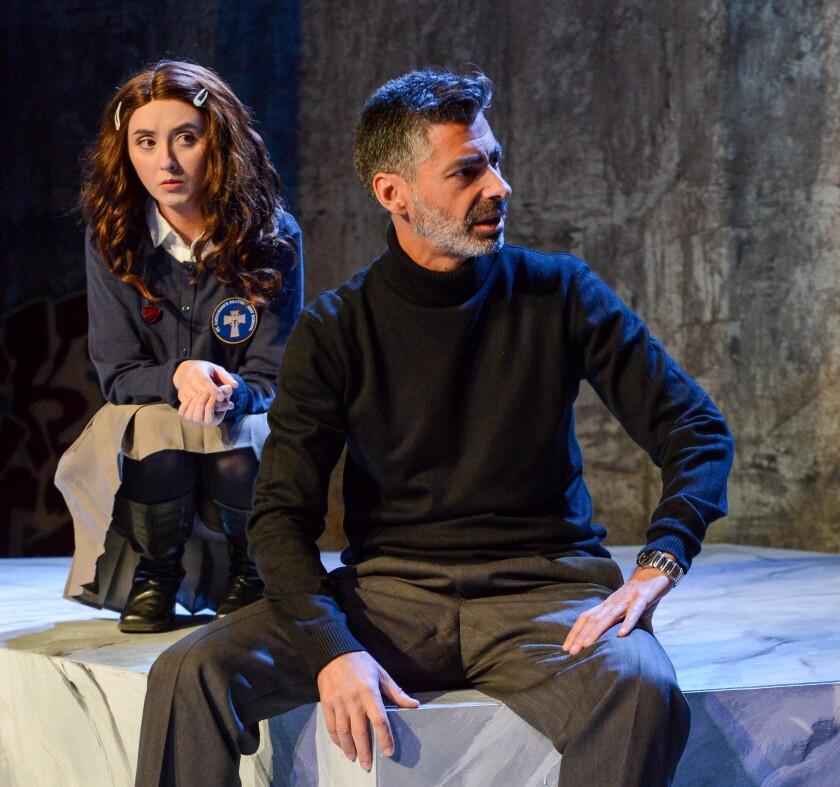Luis Fernandez-Gil portrays the school's drama teacher, Scarlet Sheppard one of his students