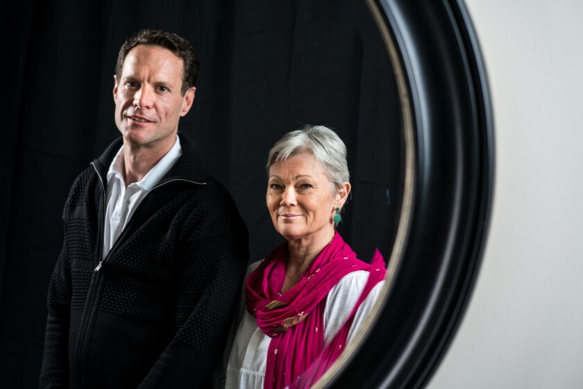 """Director Alex Holmes and Tracy Edwards from the film """"Maiden"""" pose for a portrait at the Beverly Wilshire Hotel on June 13, 2019, in Los Angeles, Calif."""