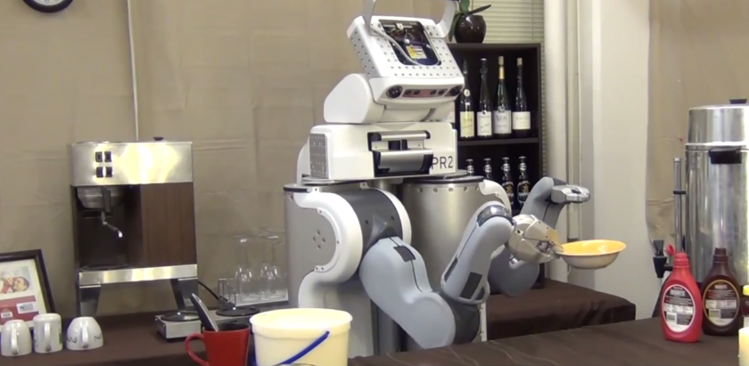 This robot prepares affogato by following simple spoken instructions from a graduate student.