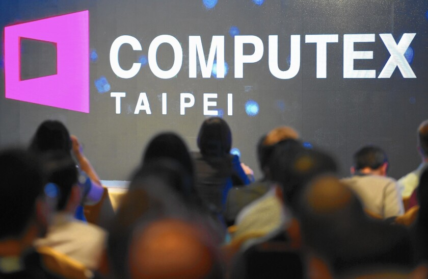 Last year, the Los Angeles area handled more than a quarter of the trade between Taiwan and the U.S., and the value of the goods traded reached $17 billion, up 7.8% from a year earlier. Taiwan ranks behind China, Japan and Korea as the region's fourth-largest trading partner. Above, a news conference at a tech trade show in Taipei this week.