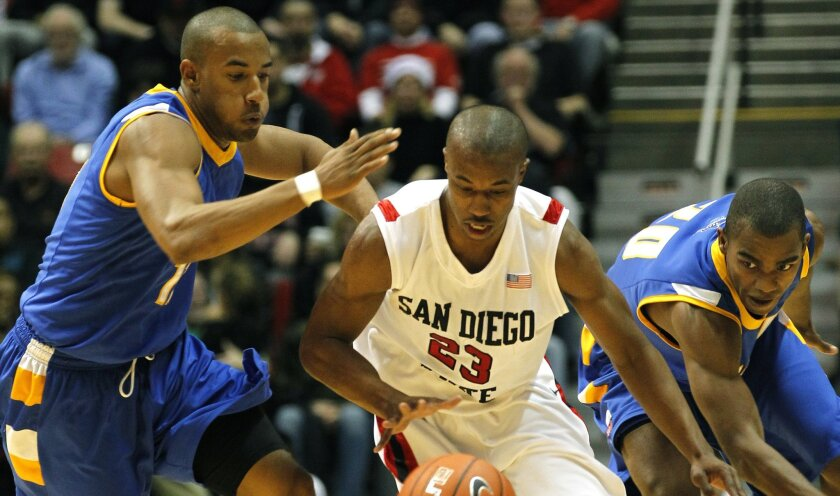 While the Aztecs lost four starters, among them D.J. Gay (center), the Gauchos return everyone this season.