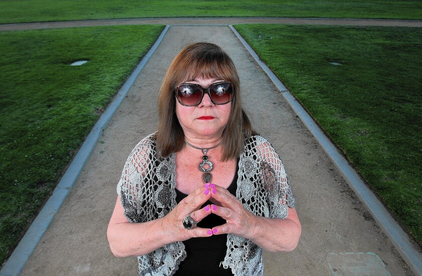 Yvonne Smith, founder of CERO International, photographed at Memorial Park, near her office in La Cañada Flintridge on Monday, May 12, 2014. CERO International is a support organization for people who claim to be abducted by aliens, or experience other close encounters.
