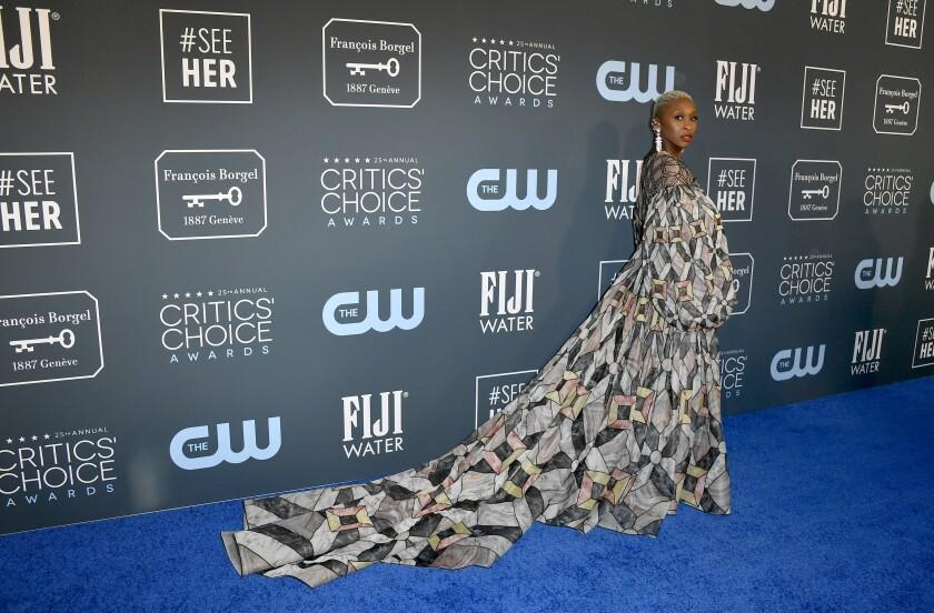 Cynthia Erivo at the 25th Annual Critics' Choice Awards.