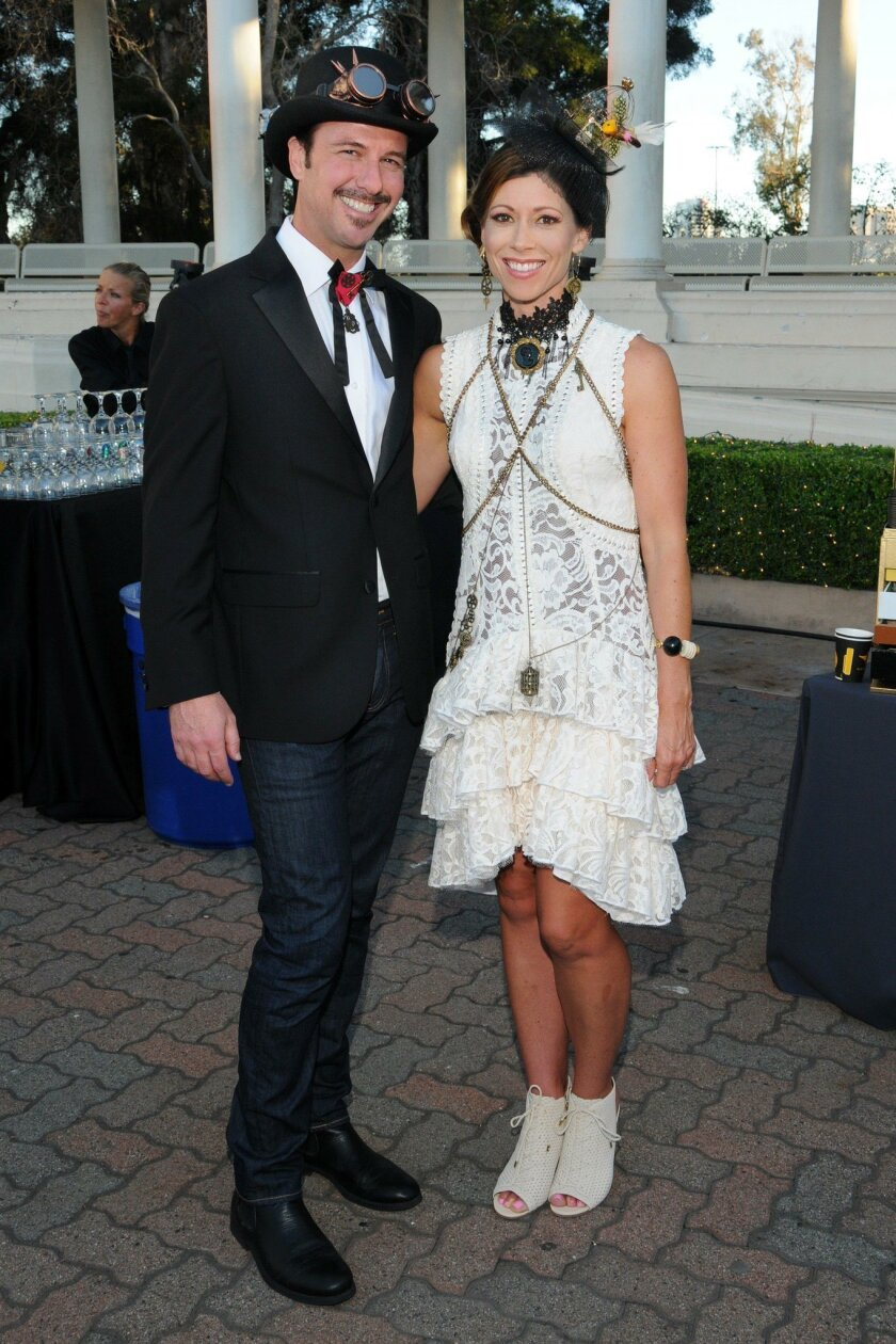 Michael Borrelli, Lindsey Lynott (1st place winning entry of Steampunk Project Runway Fashion Competition)