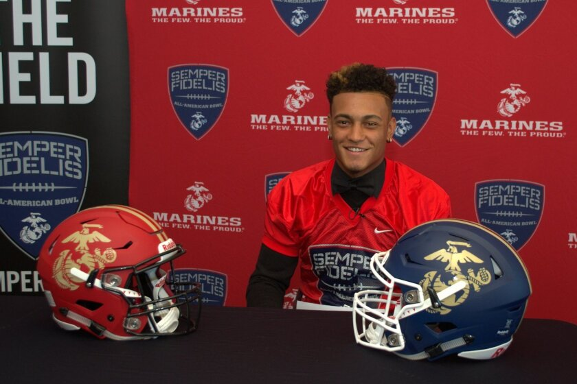 Mission Hills senior Troy Warner has been chosen to play in the Semper Fidelis All-American Bowl.