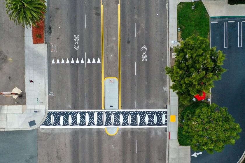 The new crosswalk