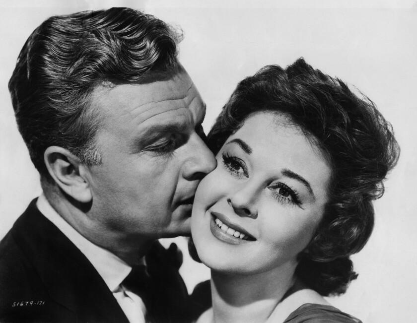 "Eddie Albert and Susan Hayward in ""I'll Cry Tomorrow."""
