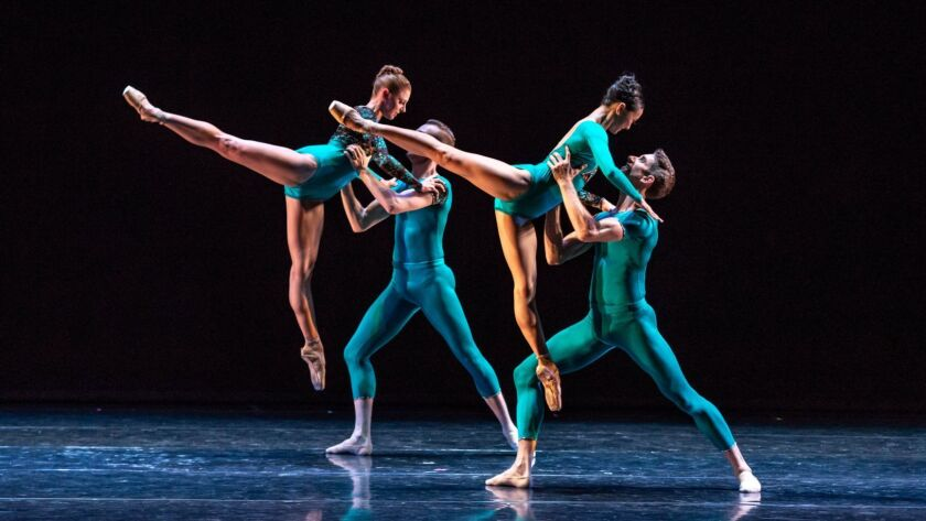 "Barak Ballet at The Broad Stage – June 29-30, 2018. Pictured: ""Cypher"" choreographed by Melissa Ba"