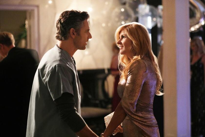 """Eric Bana as John Meehan and Connie Britton as Debra Newell in """"Dirty John."""""""
