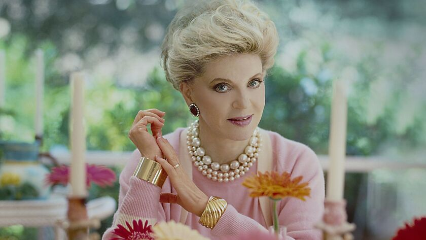 Author Judith Krantz at her home in Los Angeles in 1984.