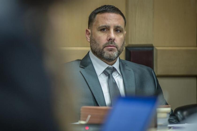 Fotografía de archivo del español Pablo Ibar durante su comparecencia en el tribunal del condado de Broward, en Fort Lauderdale, Florida (EE.UU.). EFE/Archivo