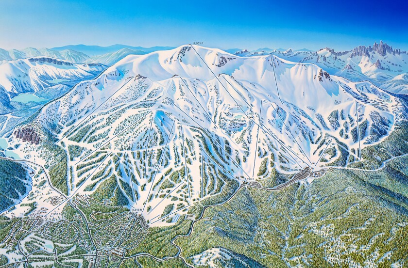 James Niehues created the map of Mammoth Mountain Ski Area in Mammoth Lakes, Calif.