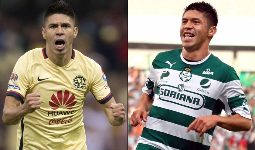 Oribe Peralta, con presente amarillo y pasado lagunero; enfrentará con el América a su ex equipo Santos.