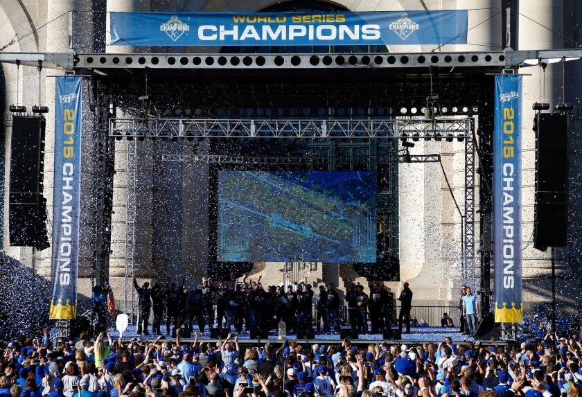 Los Royals de Kansas City celebraron a lo grande su título en la Serie Mundial.
