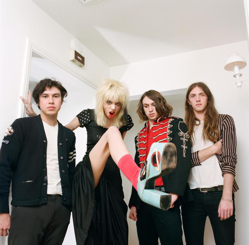 Arrow de Wilde, second from left, with Starcrawler.