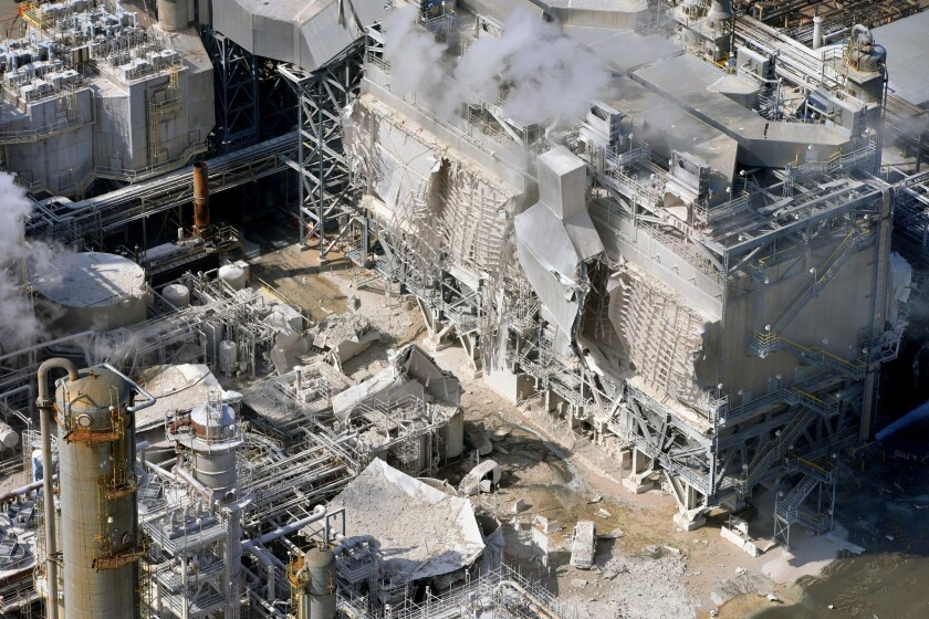 An explosion in February crippled Exxon Mobil's refinery in Torrance. Regulators have balked at Exxon's request to use an old pollution control unit to temporarily restore full operations.