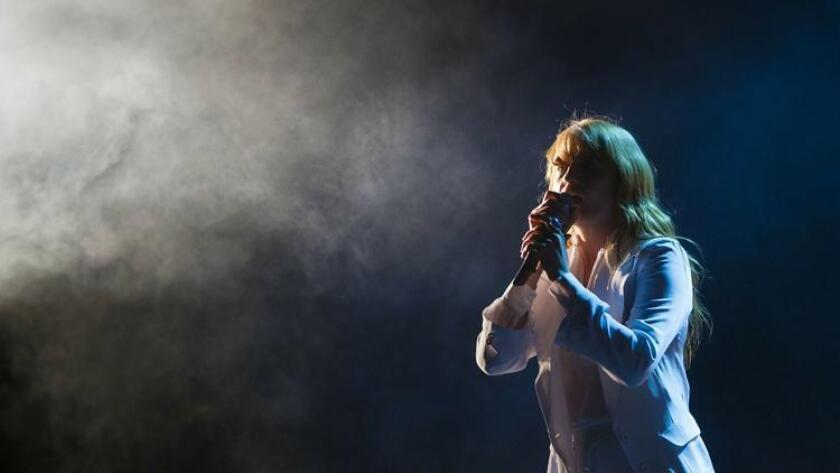 Day three of the 2015 Coachella Valley Music and Arts Festival. Florence Welch of Florence and the Machine on stage during her performance that wowed the audience. (Sean M. Haffey/Staff Photographer@U-T San Diego.)