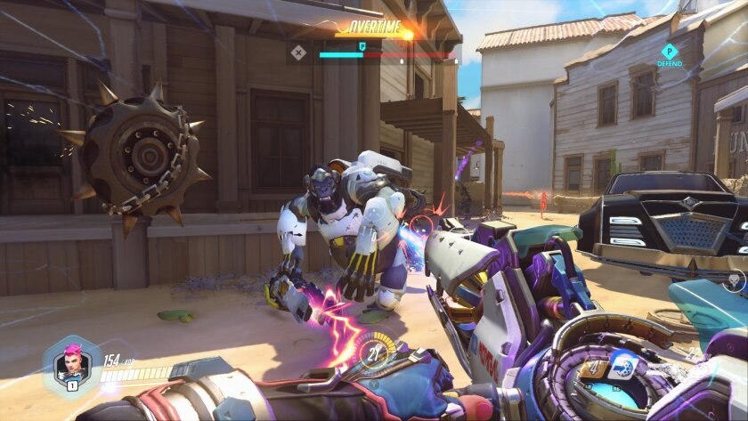 """This image released by Blizzard Entertainment shows a scene from the video game, """"Overwatch."""" (Blizzard Entertainment via AP)"""
