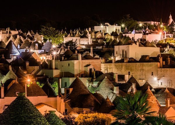 The rooftops of Alberobello's trulli. About 1,600 of these structures remain in the town today.