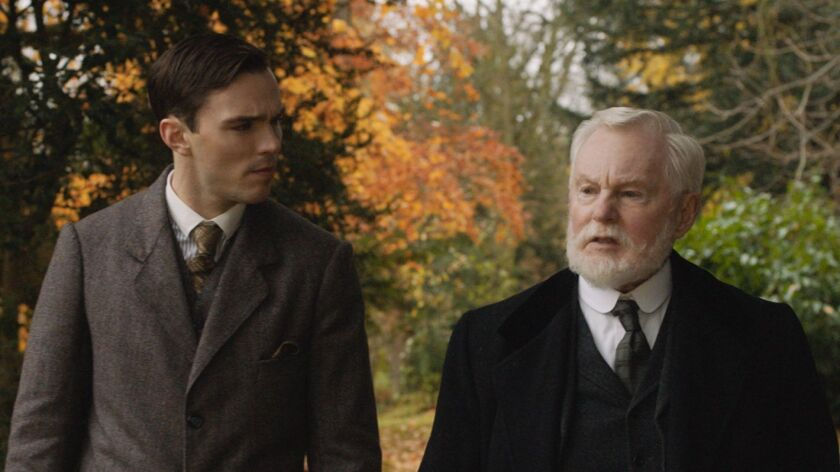 Nicholas Hoult and Derek Jacobi in the film TOLKIEN. Photo Courtesy of Fox Searchlight Pictures. ©