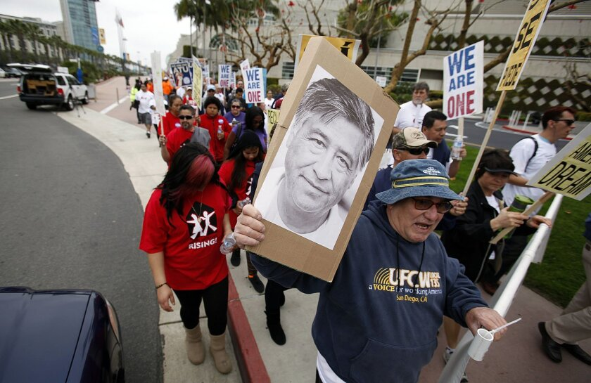 Marching for Chavez