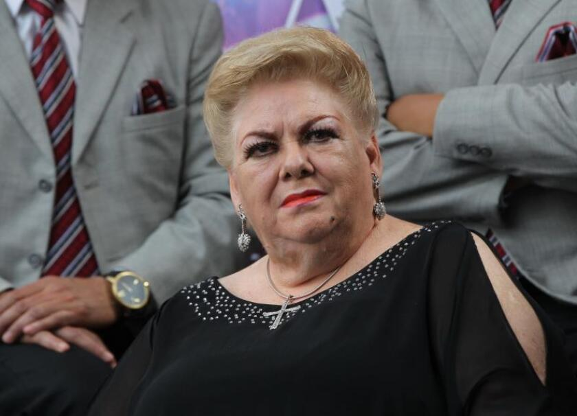 Photo from March 3, 2019 of the Mexican Singer Paquita la del Barrio in Mexico City. Singer uses the stage to fight machismo in Mexico.EPA-EFE/Mario Guzmán