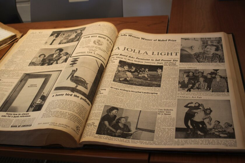 The La Jolla Light dates back a century, with the archives safeguarding past issues.