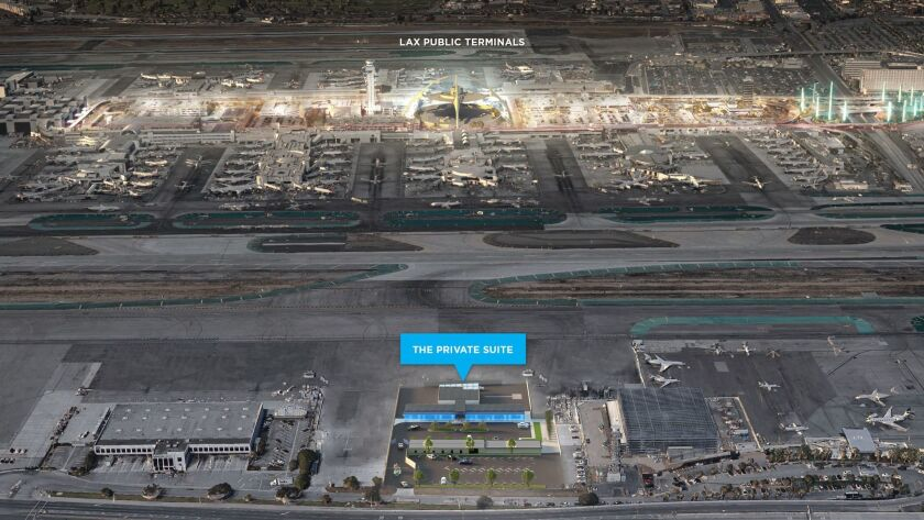 A silver BMW 7 Series sedan will ferry Private Suite passengers across the LAX tarmac, shown in an a