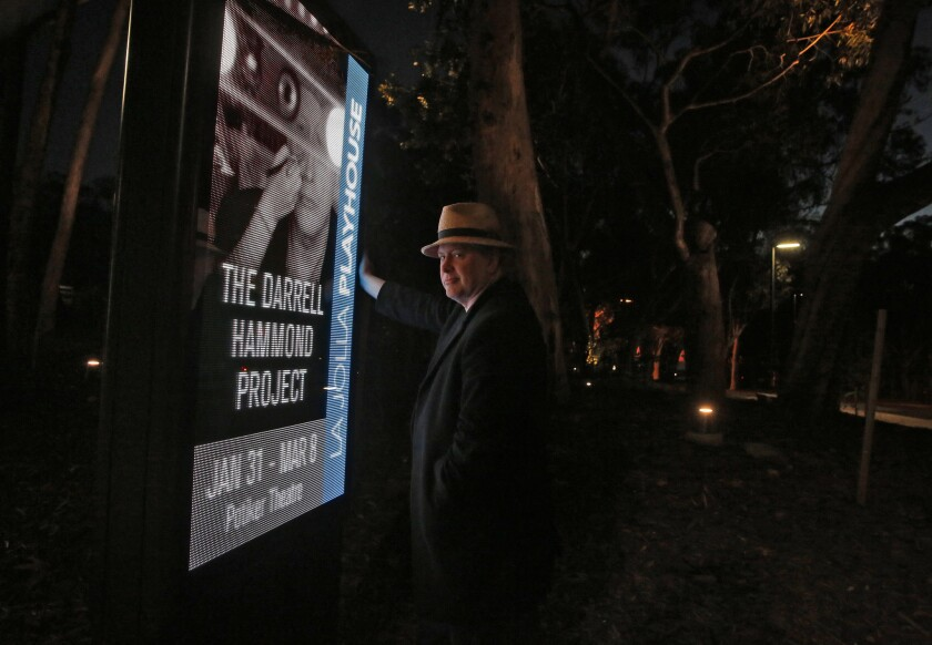 "Darrell Hammond at the La Jolla Playhouse, where the comedian and former ""Saturday Night Live"" cast member will star in a one-man show titled ""The Darrell Hammond Project."""