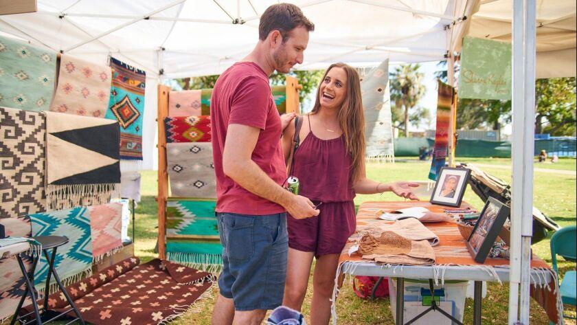 Shop for jewelry, ceramics, home decor and more at Jackalope Indie Artisan Fair in Pasadena. (Gil Ri