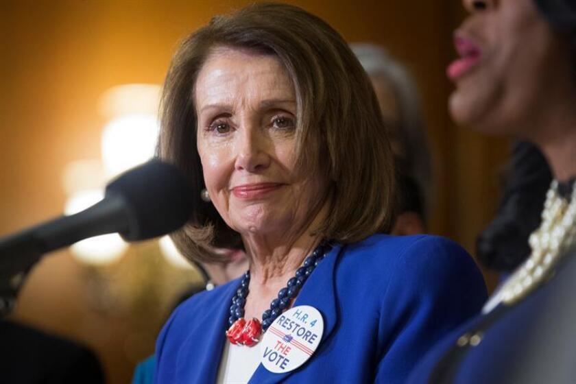 La líder de la mayoría del Partido Demócrata en la Cámara de Representantes de Estados Unidos, Nancy Pelosi. EFE