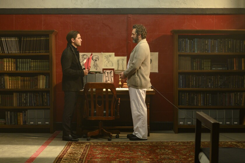 "Tom Payne and Michael Sheen in ""Prodigal Son"""