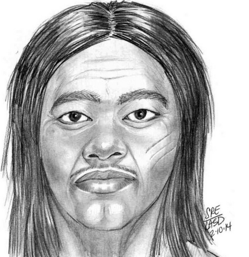 Authorities have released a sketch of a man who they say walked onto a Rosemead elementary school campus and grabbed a girl by her collar before fleeing.