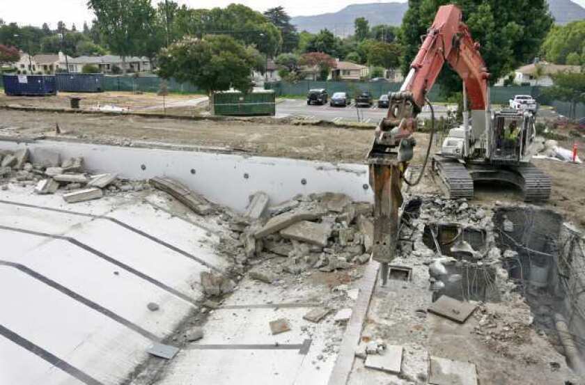 Verdugo pool project in Burbank enters heavy construction phase